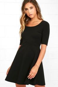 Black Swan Braelynn Black Skater Dress