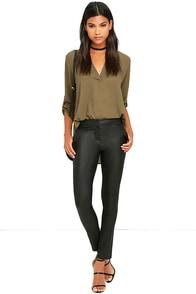 Ready to Rock Black Vegan Leather Pants
