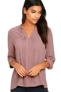 In Tune Mauve Long Sleeve Top