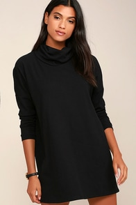 Scheme of Things Black Long Sleeve Dress