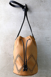Alhambra Tan Drawstring Bucket Bag