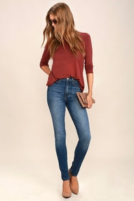 Bae by Day Medium Wash High-Waisted Skinny Jeans