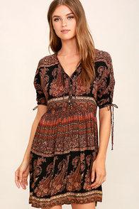 O'Neill Lottie Black Print Dress