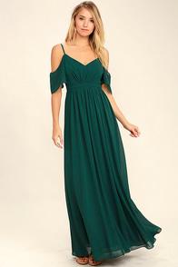 Ways of Desire Dark Green Maxi Dress