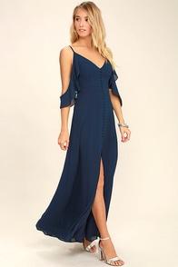 You Found Me Navy Blue Maxi Dress