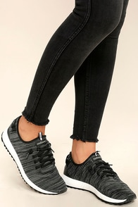 Coolway Tahali Black Knit Sneakers Image