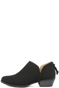 Stands Apart Black Nubuck Ankle Booties