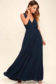 Strictly Ballroom Navy Blue Maxi Dress