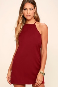 Endlessly Endearing Wine Red Dress