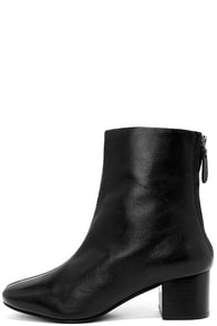 Seychelles Imaginary Black Leather Mid-Calf Booties
