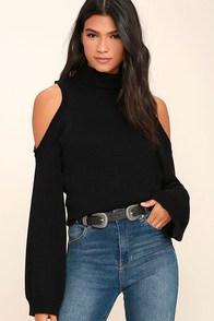 Spoiler Alert Black Turtleneck Sweater
