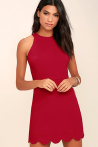 Favorite Feeling Wine Red Dress at Lulus.com!
