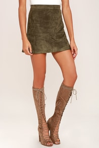 Aiden Taupe Suede Lace-Up Knee High Boots