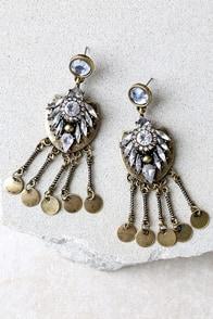 Lover of the Light Gold Rhinestone Earrings