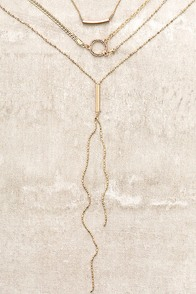 More to Love Gold Layered Necklace Set