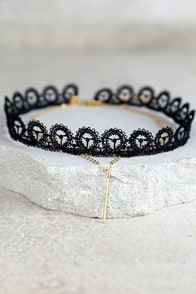 Fabulous Find Black and Gold Layered Choker Necklace