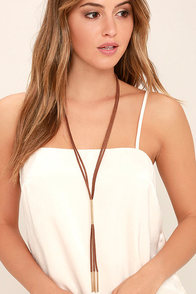 Western Moment Gold and Brown Layered Necklace