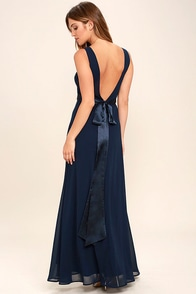 That Special Something Navy Blue Maxi Dress