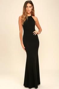 Girl in the Mirror Black Beaded Maxi Dress