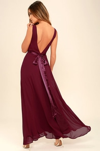 That Special Something Wine Red Maxi Dress