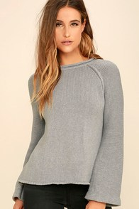 Think of You Grey Sweater
