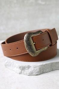 Vaquero Gold and Tan Belt