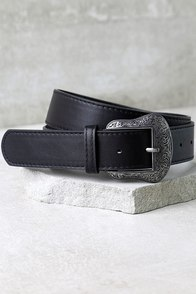 Vaquero Silver and Black Belt