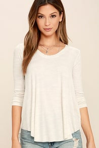 Classic Collection Cream Print Long Sleeve Top