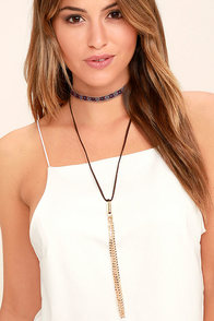 Quiet Sunset Gold and Brown Necklace Set