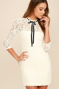 Classmate White Lace Dress at Lulus.com!