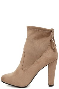 Mandy Natural Suede Ankle Booties