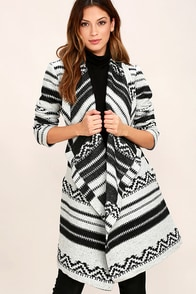 Jack by BB Dakota Basin Black and White Print Coat