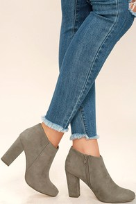 Joanne Taupe Suede Ankle Boots