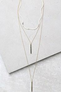 Sleek Peek Gold Layered Choker Necklace