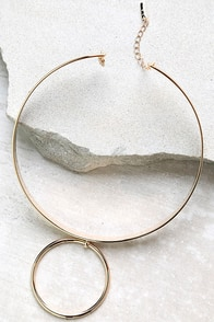 With This Ring Gold Choker Necklace