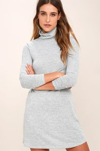 Gentle Fawn Libra Heather Grey Long Sleeve Dress at Lulus.com!