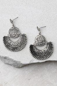 Live Show Silver Earrings