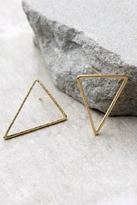 Tessellate Gold Earrings