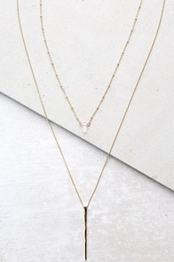 Sing a Tune Gold Layered Necklace