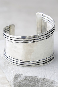 Get What You Give Silver Cuff Bracelet