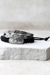 Landlocked Black Bracelet Set