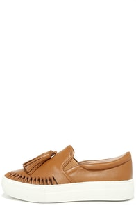 J Slides Aztec Tan Leather Sip-On Sneakers