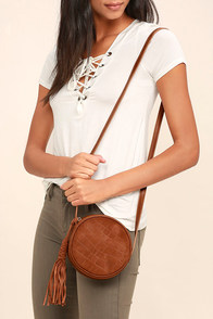 Out of the Woods Brown Suede Leather Purse