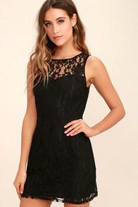 Black Dress - Lace Dress - LBD - Halter Dress - $39.00