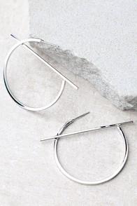 Head Start Silver Hoop Earrings