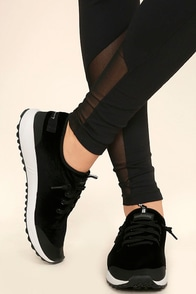 Coolway Tahalifit Black Velvet Sneakers Image