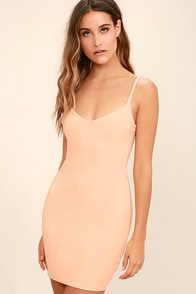 Whenever, Wherever Light Blush Bodycon Slip