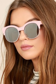 Perverse Kayla Ray Pink Mirrored Sunglasses