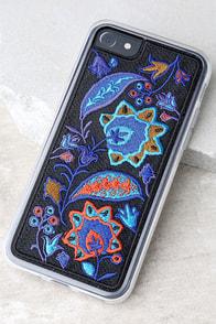 Zero Gravity Bohemia Blue Embroidered iPhone 7 Case
