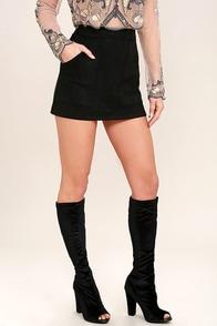 Jacqui Black Velvet Peep-Toe Knee High Boots